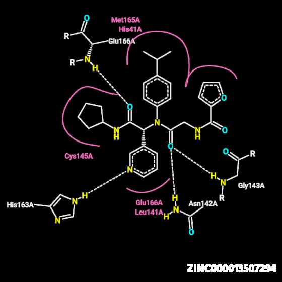 Molecule ZINC000013507294: COVID-19 Virtual Screening Result