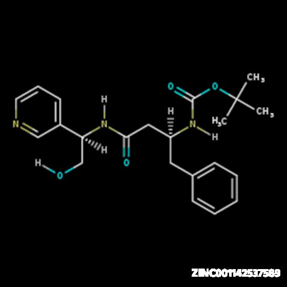 Molecule ZINC001142537589: COVID-19 Virtual Screening Result