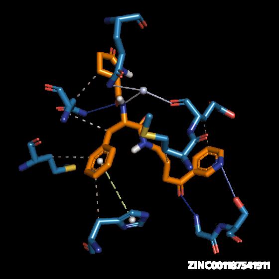 Molecule ZINC001187541911: COVID-19 Virtual Screening Result